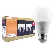 bluefire 6 watts a19 led light bulbs warm white 2700k 520 lumens