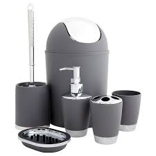 grey bathroom accessories set house decorations