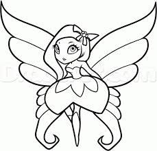 fairy sketch step by step how to draw a fairy stepstep easy