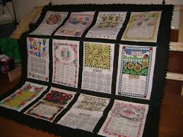 Kitchen Towel Craft Ideas Days Gone By Quilt Made From Old Cloth Calendars Crafts Made By