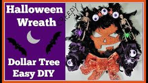 halloween wreath dollar tree diy youtube