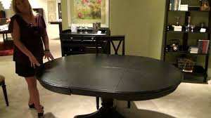 American Drew Dining Room Furniture Camden Oval Pedestal Dining Table By American Drew Black Or