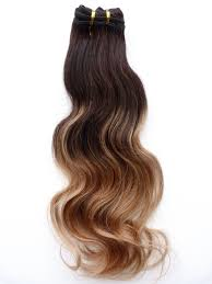 Black To Brown Ombre Hair Extensions by Brazilian Balayage Ombre Virgin Remy Human Hair Clip In Bodywave