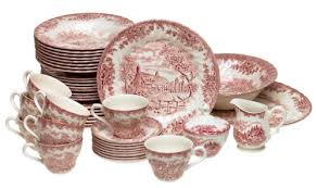 churchill china brook pink 45 dinnerware set