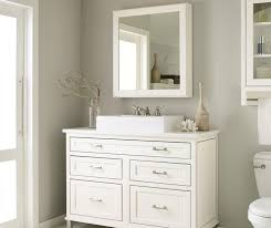 White Inset Bathroom Cabinets Decora Cabinetry - White cabinets for bathroom