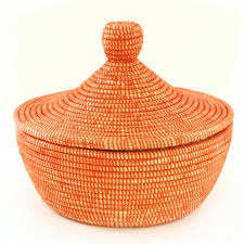 warming basket tangerine by swahili african modern pascale lemay