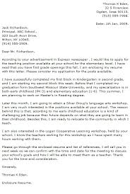 teacher cover letter preschool assistant teacher cover letter