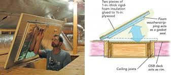 57 attic stair insulation box how to insulate attic drop down