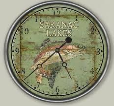 table top lake resorts vintage lake resort fish clock custom lake resort clocks and