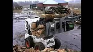 wood cutting u0026 splitting attachment for bobcat loaders skid