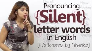 english lesson pronouncing silent letter english words learn