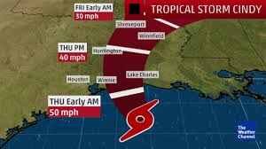 Weather Channel Radar Map Video Cindy To Make Landfall Overnight