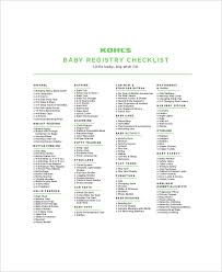 baby registery complete baby registry checklist 5 free pdf documents