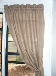 burlap curtains u0027the country panel u0027 38