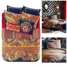 Natori Duvet Josie Boho Bohemian Moroccan Duvet Mini Bedding Set Design