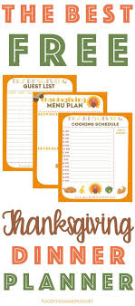 thanksgiving planner 5 free printables food folks and