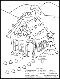 free printable christmas color by number pages halloween arts