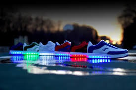la light up shoes loved me some light up shoes la gear was da bomb lol