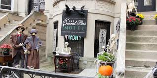 this woman goes all out decorating her home for halloween