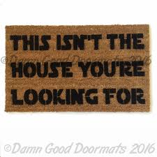 Droid Meme - we have the droids you re looking for scifi doormat damn good