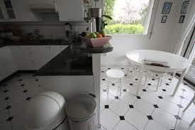 carrelage noir et blanc cuisine univers cuisine carrelage noir et blanc