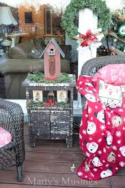 Outside Home Christmas Decorating Ideas Inexpensive Deck Decorating Ideas For Christmas Marty U0027s Musings
