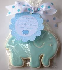 elephant favors baby shower cookie favors baby showers ideas
