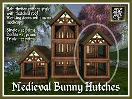 Hutch Menu Second Life Marketplace Kismet Medieval Ozimals Bunny Hutch
