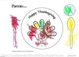 printable thanksgiving turkey placemat crafts thanksgiving