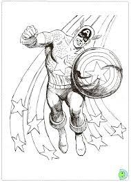 captain america coloring dinokids org