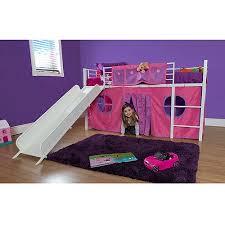 Girl Twin Metal Loft Bed With Slide Walmartcom - Slide bunk beds