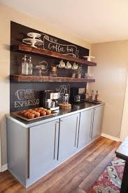 fixer upper coffee bar and shelves