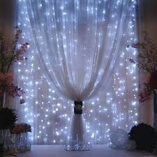 omgai window curtain icicle string lights 300led for christmas