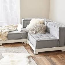 Sofa With Chaise Lounge Small Sectionals U0026 Lounge Sofas Pbteen