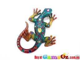 gecko lizard resin ornament new