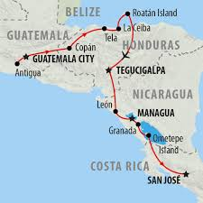Map Of Central America With Cities by Central America Tours Holidays To Central America On The Go Tours