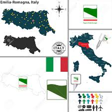 Apulia Italy Map by Vector Map Of Region Emilia Romagna With Coat Of Arms And Location