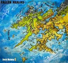 Forgotten Realms Map Fallen Realms World Map By Dorianclock On Deviantart