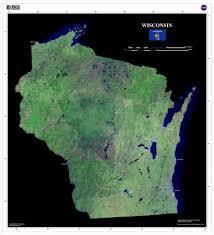 Satellite Map Usa Wisconsin Satellite Imagery State Map Poster U2013 Terraprints Com