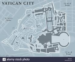 Italy Political Map by Vatican City State Political Map Walled Enclave Within The City
