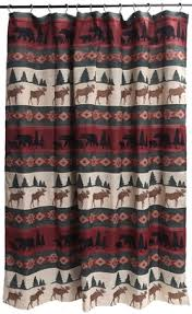 Cabin Shower Curtains Cabin Rustic Lodge Shower Curtains Cabin 9 Design
