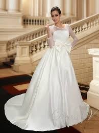 designer wedding dresses online new designer wedding dresses with 3 4 sleeve bow illusion