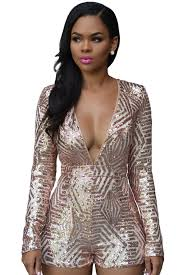 rose gold sequin playsuit lc60841rose 21 99 colored