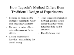 ppt what is robust design or taguchi u0027s method powerpoint