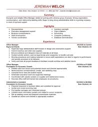 resume format administrative officers exams 4 driving lights best office manager resume exle livecareer