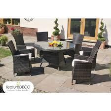 6 Seater Patio Furniture Set - maze rattan la round table rattan garden furniture 4 6 and 8 seater