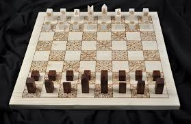 Wooden Chess Set Mary Louise Wang