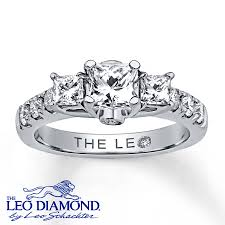 leo engagement rings jared leo ring 1 3 8 ct tw princess cut 14k white gold