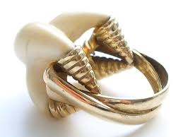 ivory ring gold and ivory ring c1970 klosterman jewelry archives