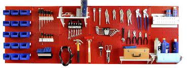 wall master workbench metal pegboard tool organizer shop